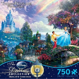 【美しいアートシリーズ】Disney Dreams Collection - Cinderella Wishes Upon a Dream by Thomas Kinkade ディズニー...
