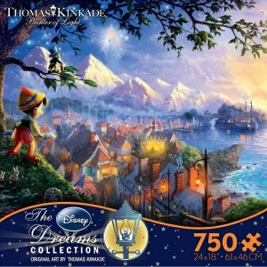 【美しいアートシリーズ】Disney Dreams Collection - Pinocchio Wishes Upon a Star by Thomas Kinkade ディズニー コレクション...