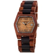 テンス 時計 メンズ 腕時計 木製 Tense Mens 6-Sided Wooden Watch Two-Tone Date Window G8300SD LF (Light Face)