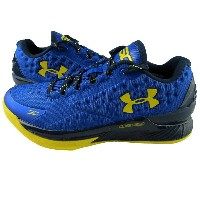 Under Armour Charged Foam Curry One 1 Low Blue/Yellow メンズ アンダーアーマー バッシュ ステフィン・カリー