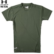 UNDER ARMOUR TACTICAL アンダーアーマー タクティカル HEAT GEAR COMPRESSION S/S Tシャツ MARINE OD GREEN 《WIP》 ミリタリー 男性...