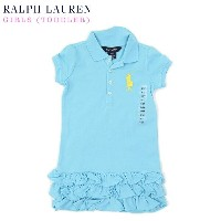 (TODDLER) Ralph Lauren Girls(2-6X) POLO ONE Piece ラルフローレン ガールズ ポロシャツ ワンピース