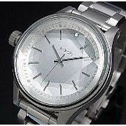 NIXON【ニクソン】FACET 38 ALL SILVER / ファセット 38 シルバー文字盤 メタルベルト レディース腕時計【2015年新作】...
