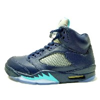 "【ナイキ】 NIKE AIR JORDAN 5 RETRO ""HORNETS"" (27) MIDNIGHT NAVY/TURQUOISE BLUE-WHITE エアジョーダン 5 レトロ ""ホーネッツ""..."