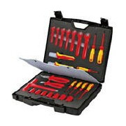 KNIPEX 絶縁工具セット 26点セット【989912】(防爆・絶縁工具・工具セット(絶縁))(代引不可)
