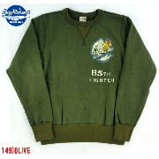 "No.BR66883 BUZZ RICKSON'S バズリクソンズSET-IN CREW SWEAT""85th FIGHTER SQ."""
