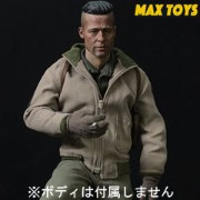 【MAX TOYS】1/6 ARMY Action Figure Clothes & Accessories A99 1/6スケール WW2アメリカ陸軍 戦車兵 男性ヘッド&コスチューム...