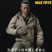 【MAX TOYS】1/6 ARMY Action Figure Clothes & Accessories A99 1/6スケール WW2アメリカ陸軍 戦車兵 男性ヘッド&コスチュームセット