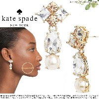 Kate Spade ケイトスペード トゥインキング フェット ステートメント ピアス twinkling fete statement drop パール 正規輸入品 □