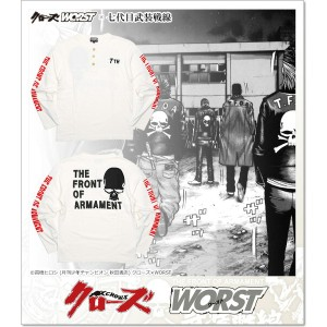 CROWS×WORST 7th 武装戦線 T.F.O.A 7th ロンT (LS:TEE)(CR-041WH)
