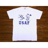 Buzz Rickson's[バズリクソンズ]×PEANUTS[ピーナッツ] Tシャツ スヌーピー SNOOPY Fly USAF BR76843 (OFF WHITE)