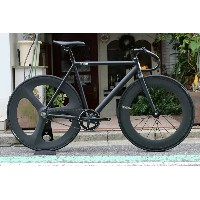 8bar bikes KRZBERGV4 LAZER BLACK R 3SPOKE CARBONWHEEL カスタムバイク BLACK リア3スポーク カーボン