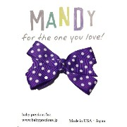 MANDY Baby Bows Purple with White Dot