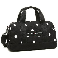 トミーヒルフィガー バッグ TOMMY HILFIGER 6930059 990 CORE PLUS MINI DUFFLE BICOLOR DOT ショルダーバッグ BLACK/WHITE