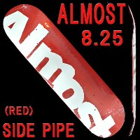 ALMOST/オールモスト スケートボード/スケボーデッキ SIDE PIPE RED 8.25 DECK SK8_02P01Oct16