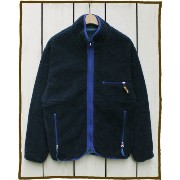 CAMCO Outdoor Fleece Nylon Rev Jacket / boa pile retro classic / Navy Lt Navy カムコ アウトドア フリース ナイロン...