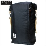 POLeR (ポーラー) 【メンズ】 バックパック ロールトップ リュックサック デイバッグ バッグ ROLL TOP BACKPACK (BLACK ...