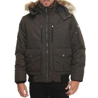 ショーンジョン Sean John メンズ アウター コート【s j signature snorkel coat w/ faux - fur - lined hood】カーキ