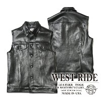 【WESTRIDE/ウエストライド】レザーベスト/16FW DEAN VEST LEATHER★REAL DEAL