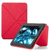 Amazon Kindle Fire HDX スタンド付き ORIGAMI 合皮 カバー/ケース ピンク (Kindle Fire HDX 7専用)