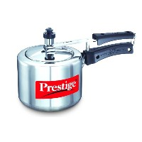 Prestige PRNPC2 Small Nakshatra Plus Flat Base Aluminum Pressure Cooker for Gas and Induction Stove Silver - 2 Liter