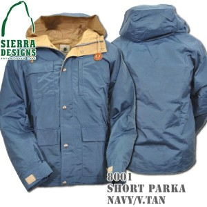 SIERRA DESIGNS (シエラデザインズ) SHORT PARKA Navy/Vtan 8001