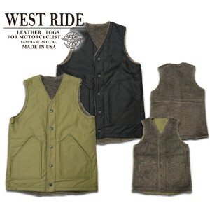 p10【WESTRIDE ウエストライド】ベスト/15FW RV ARMY VEST★送料・代引き手数料!!REAL DEAL