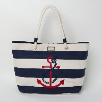 【TOMMY HILFIGER トミーフィルフィガー】トートバッグ キャンバス ROPE TOTE TOTE CAN STRIPE TIED ANCH【あす楽対応】