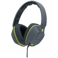 【送料無料】 SKULLCANDY [マイク付]ヘッドホン (Crusher Gray/Hot Lime/Hot Lime Mic1) J6SCGY-134 1.2mコード[CRUSHERGRAYHO...