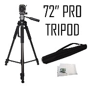 Professional 72-インチ Tripod 3-ウェイ Panhead Tilt Motion with Built In Bubble Leveling & クイック リリース for the JVC Everio GZ-MS250...