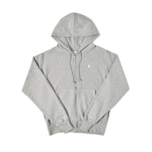 CHAMPION REVERSE WEAVE ZIP HOOD【S4969-549302806-GREY】