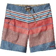 パタゴニア Patagonia メンズ 水着 ボトムのみ【Printed Stretch Planing Board Short】Textured Fitz Stripe/Drumfire Red