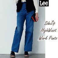 【ワイドデニム】 【 Lady Lee 】 HERITAGE EDITION 【 336 】 サイドジップ ワークパンツ ll4985 SIDE ZIP HIGH WAIST WORK PANTS