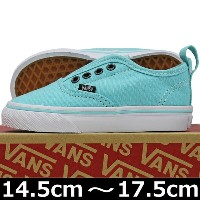 VANS ( バンズ ) Kids Authentic V ( Glitter Eyelets ) Aqua Sky/True White (14.5-17.5cm) ( ばんず ヴァンズ スケートボード スケボー...