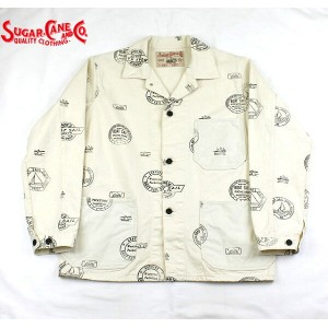No.SC13525 SUGAR CANE シュガーケーンFICTION ROMANCE8.2oz.BOAT SAIL CLOTH WORK COAT