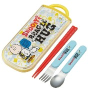 [SNOOPY]スヌーピー 食洗機対応トリオセット TCS1A(スプーン・フォーク・お箸セット) new06