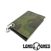 【LONE ONES】ロンワンズ【送料無料】【あす楽】/MF Wallet: Camouflage Leather Card Case with 2 Card Slots: Heron Grommet Silk Link and...