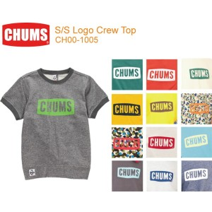 【CHUMS チャムス】CH00-1005<S/S Logo Crew Top-ロゴクルートップ半袖>※取り寄せ品