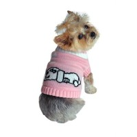 ★Doggie Design★Pink Dog Dreaming Sweater 犬用セーター