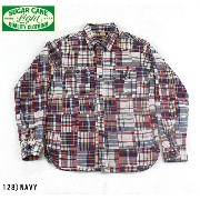 No.SC27189 SUGAR CANE LIGHTシュガーケーンライトCPATCHWORK WORK SHIRT