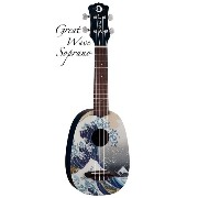 Luna Guitars Artistic Great Wave Soprano [UKE GWS] 《ソプラノウクレレ》【送料無料】【SAVAREZ Low-G弦 144RL プレゼント】