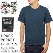 RIDING HIGH ライディングハイ STANDARD PACK COLOR POCKET T-SHIRTS [NAVY] メンズ Tシャツ パック カットソー ネイビー 男性用 MADE IN...