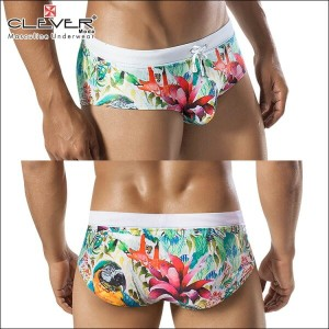 【CLEVER2016-1】 CLEVER クレバー Tropical Colombia Swimsuit Brief Ref,0605 CLEVER スイムパンツ 【男性下着 水着 ボクサー...