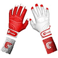 カッターズ メンズ 野球 グローブ【Cutters Prime Command Yin Yang Batting Gloves】Red/White