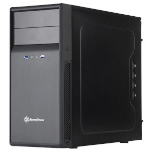 【送料無料】SilverSton PCケース Precision ブラック SST-PS09B [SSTPS09B]【KK9N0D18P】