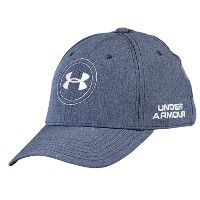 アンダーアーマー メンズ ゴルフ 帽子【Under Armour Official Tour Cap】Midnight Navy/White
