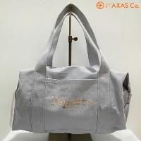 【vaokh】repetto (レペット) スモールダッフルバッグ 51162-5-00231 Col.Grisclair/グレー[ロゴ入りバッグ/キャンバス...