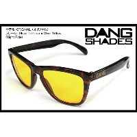 DANG SHADES ORIGINAL Gloss Tortoise x Clear Yellow(Night Ride) vidg00143 ミラーレンズ トイサングラス