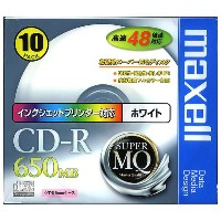 マクセル CD-R SuperMQ 48x対応 (DATA) CDR650SPW1P10S [CDR650SPW1P10]