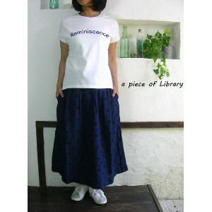 ■SALE商品■a piece of Library ア ピース オブ ライブラリー 度詰天竺 Reminiscence フレンチスリーブ Tシャツ